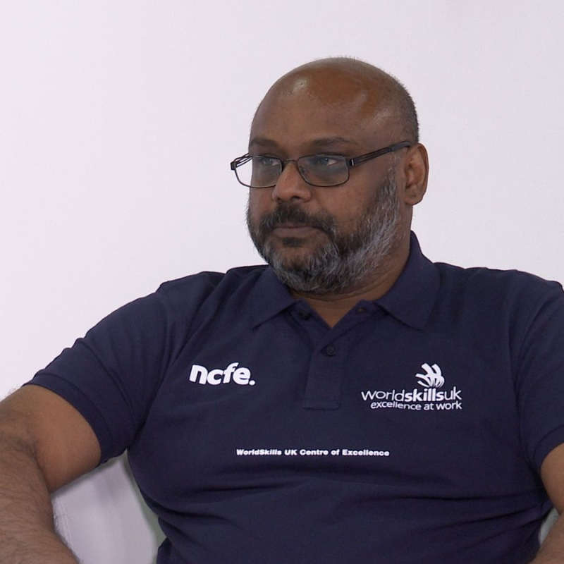Photo of Mr. Sureshkumar who supports WorldSkills with Cyber Security