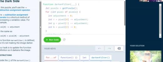 screen shot of web design