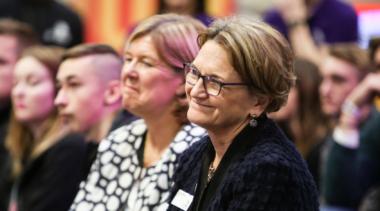 Carole Stott, former WorldSkills UK Chair smiling