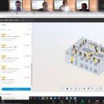 Screenshot of virtual digital construction challenge