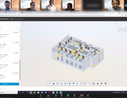 Screenshot of virtual digital construction challenge