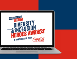 Diversity and Inclusion Heroes Awards logo on laptop