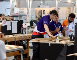 Christopher Caine in the Joinery Competition