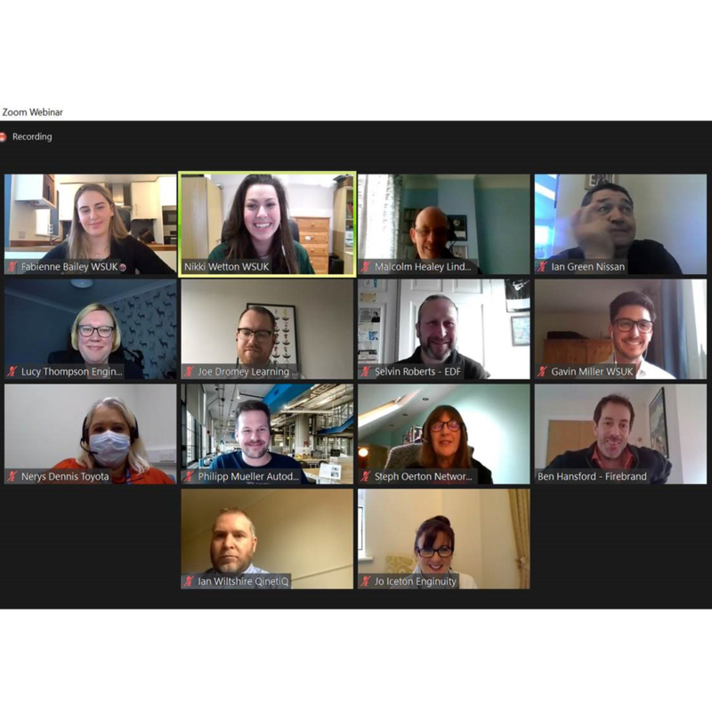 Screenshot of Zoom call for digital skills research focus group