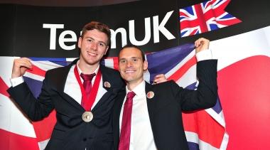 Ryan Sheridan with his bronze medal at WorldSkills London 2011