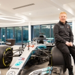 Ben Eaton with Mercedes F1 car