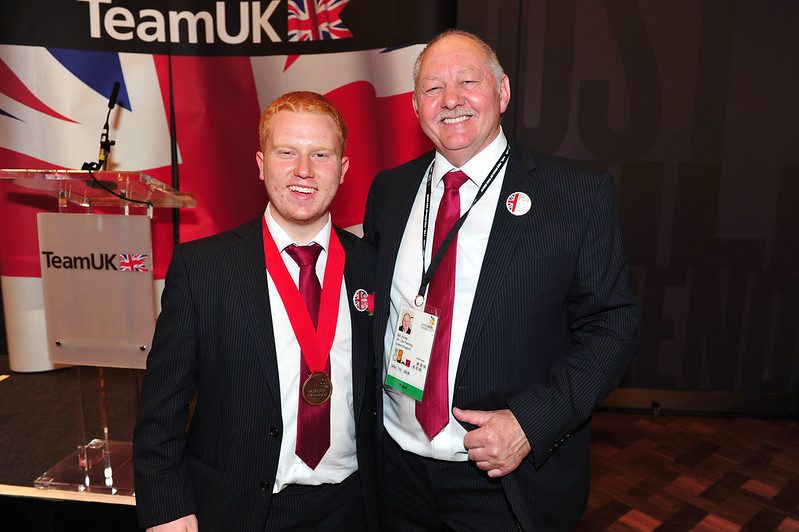 Ben Eaton with Bronze Medal