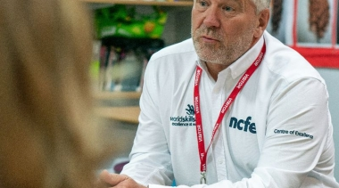 Pete Walters MBE working as part of the Centre of Excellence
