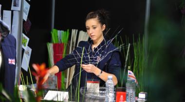 Victoria Richards florist working