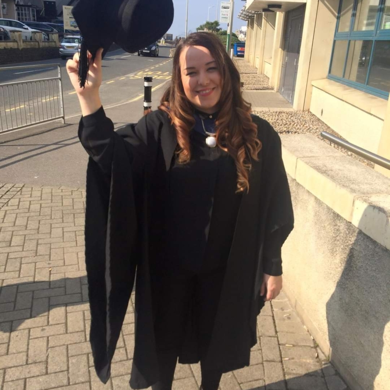 Hayley Wright Graduation gown
